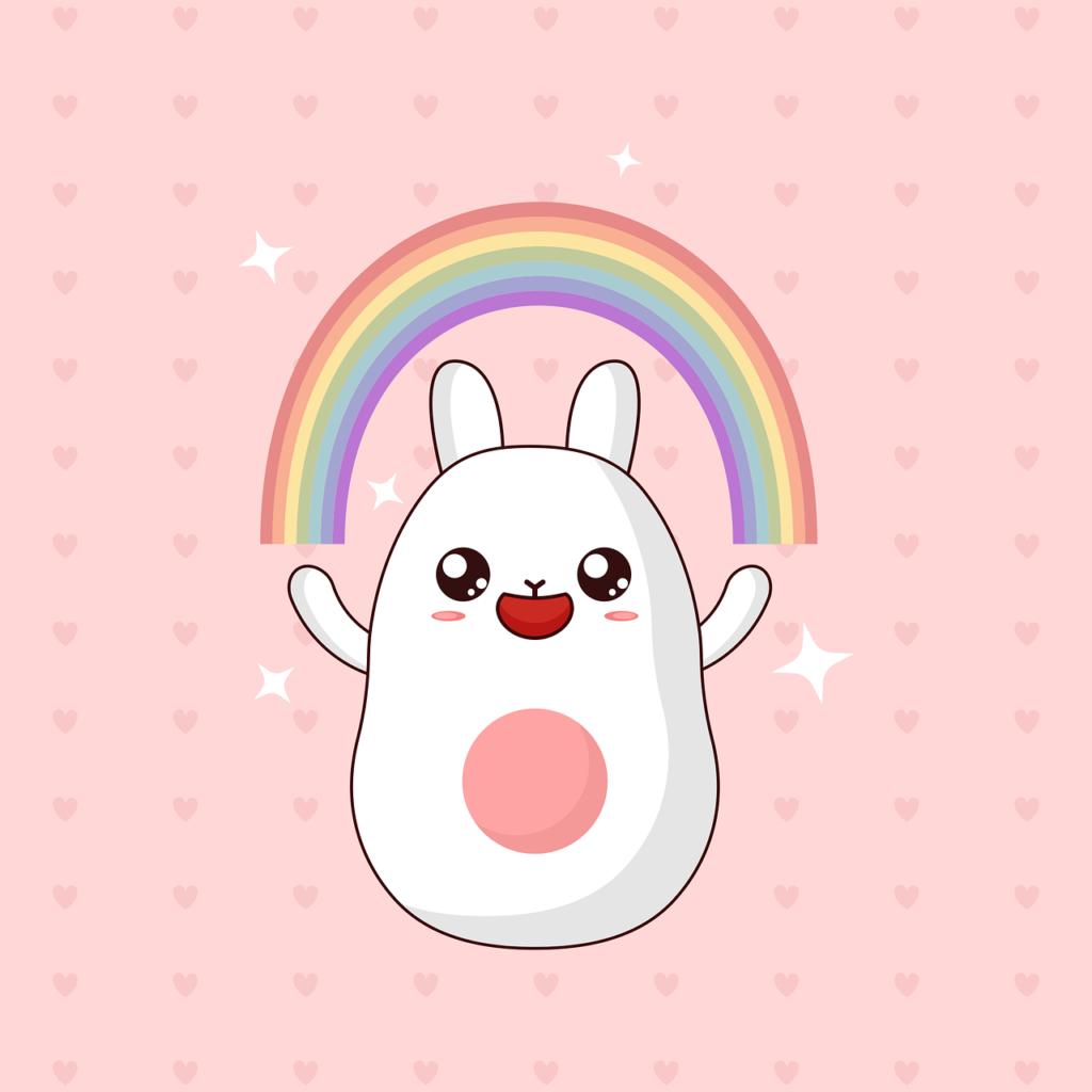 Conejos Kawaii Las Más Bonitas Imágenes Para Imprimir